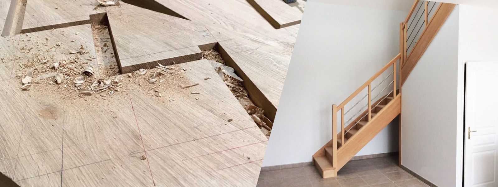 Manufacturer of wooden stairs and mixed materials